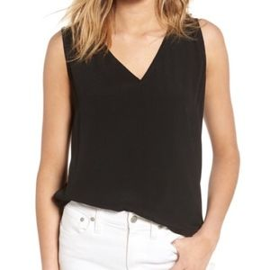 Madewell   Black Daybloom Popover Swingy Tank